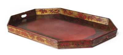 A LATE REGENCY GILT AND RED JA