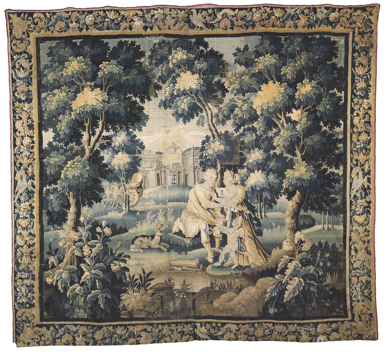 A FLEMISH VERDURE MYTHOLOGICAL
