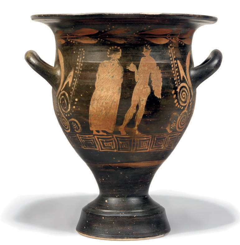 AN ETRUSCAN APPLIED RED-FIGURE