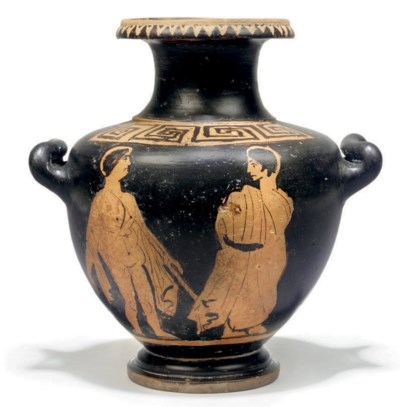 AN ETRUSCAN RED-FIGURE HYDRIA