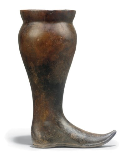 AN ETRUSCAN IMPASTO WARE BOOT
