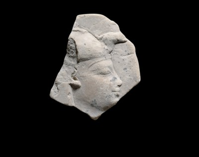 AN EGYPTIAN GYPSUM SCULPTOR'S