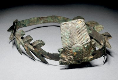 A ROMANO-EGYPTIAN GILT COPPER
