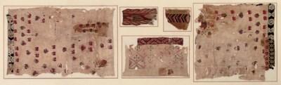FIVE COPTIC TEXTILE FRAGMENTS