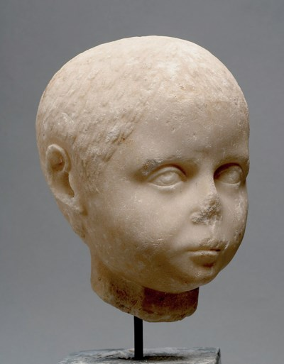 A ROMAN MARBLE HEAD OF A YOUNG