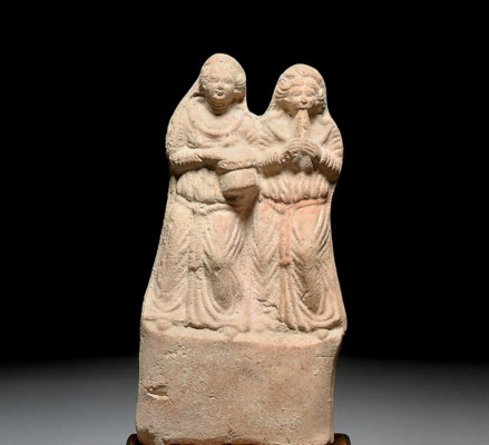 A HELLENISTIC TERRACOTTA GROUP