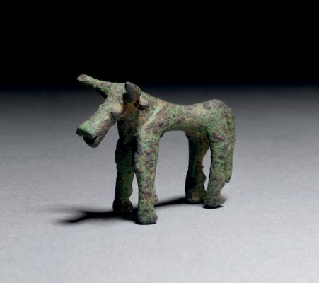 A GEOMETRIC GREEK BRONZE BULL