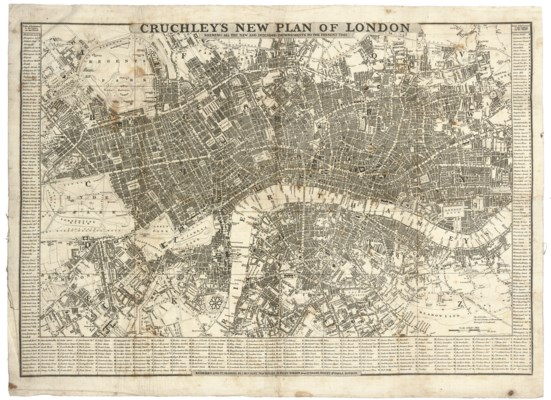 CRUCHLEY'S NEW PLAN OF LONDON,