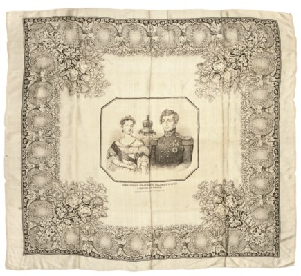HANDKERCHIEF COMMEMORATING THE