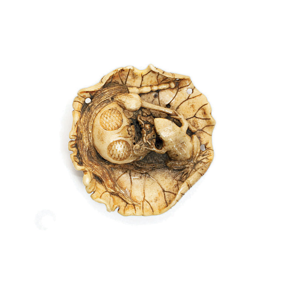 A Stagantler Netsuke