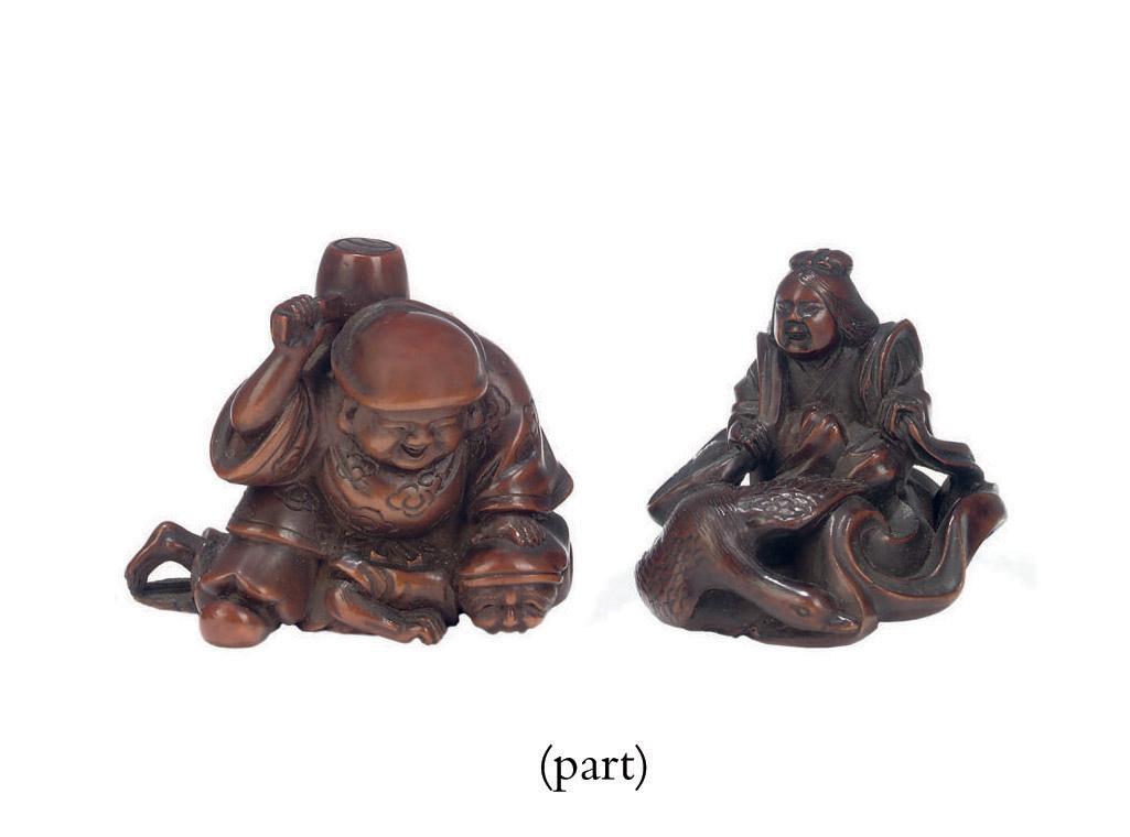 Four Wood Netsuke
