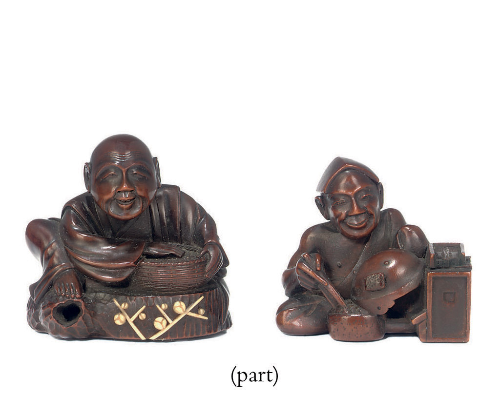 Three Wood Netsuke