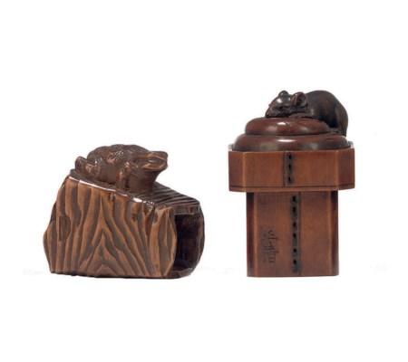 Two Wood Netsuke