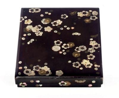 A Shikishibako [Poem Paper Box