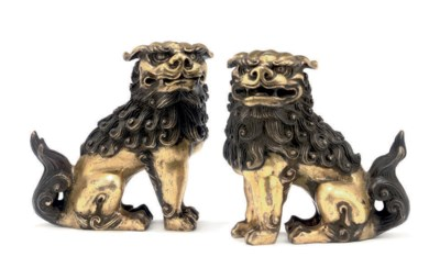 A Pair of Gilt Bronzes