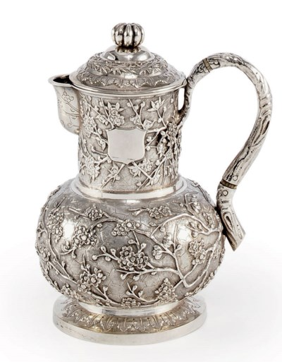 A CHINESE EXPORT SILVER HOT WA