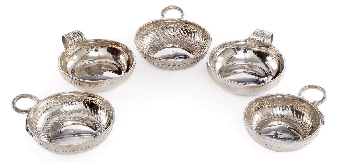 A GROUP OF FIVE FRENCH SILVER