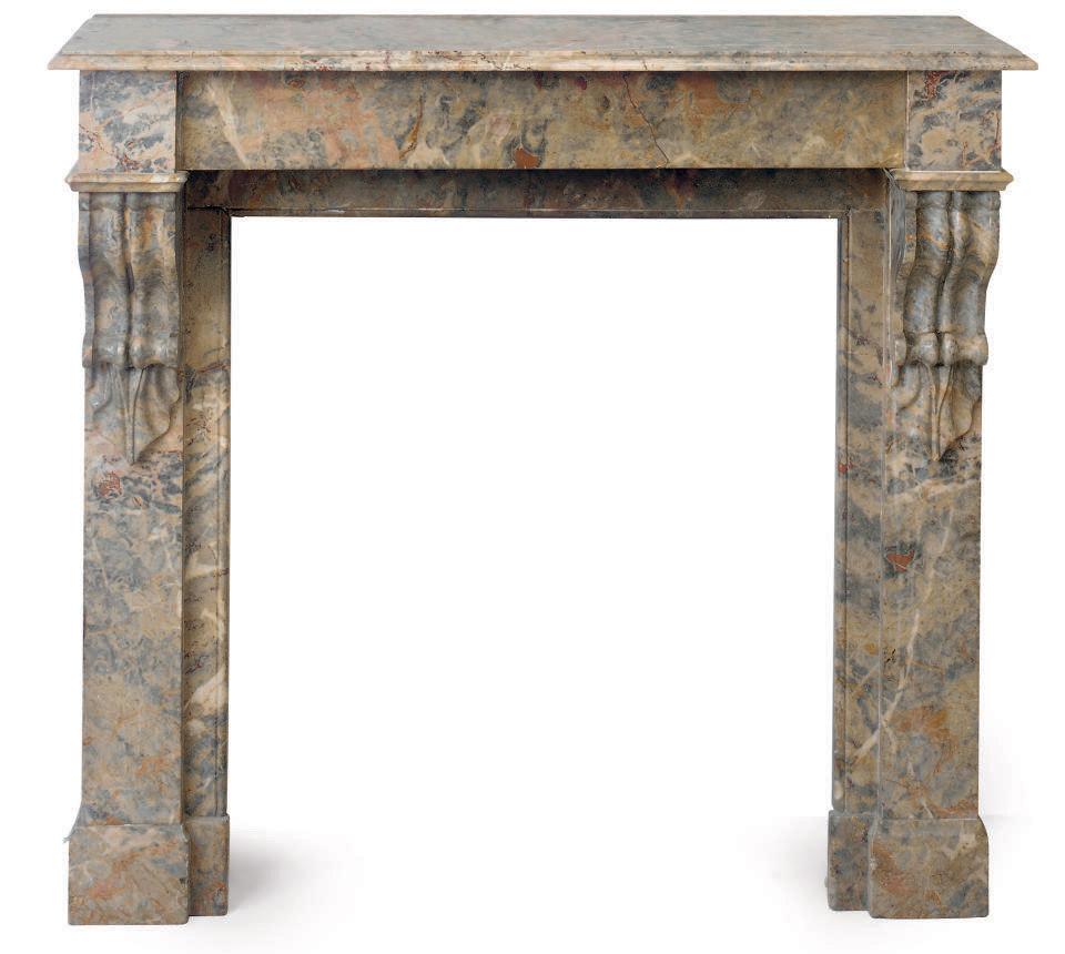 A NEAR PAIR OF FRENCH MARBLE C