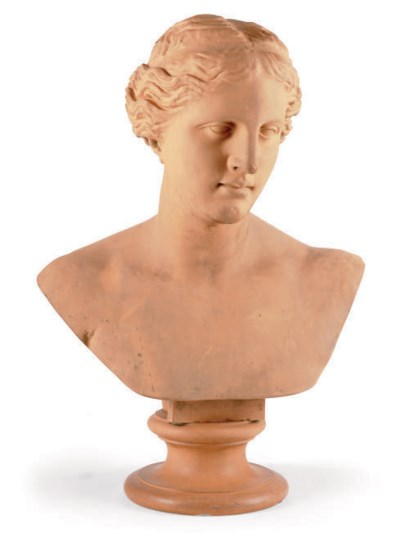 A DANISH TERRACOTTA BUST OF TH