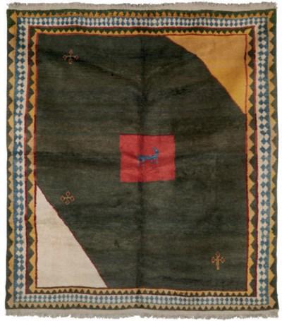 An unusual Gabbeh small carpet