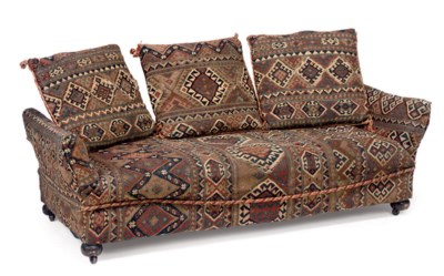A KELIM COVERED DAYBED