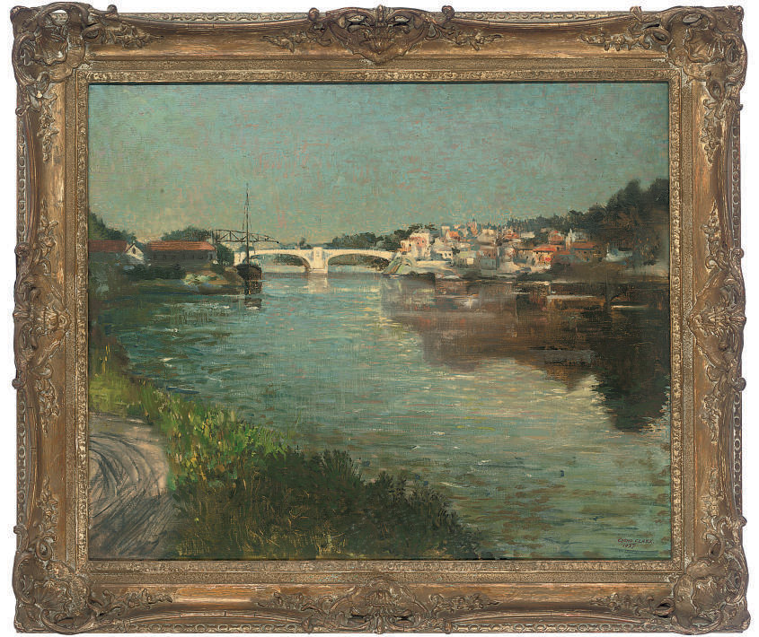 Evening light on the river, Oise