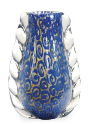 AN ITALIAN GLASS VASE,
