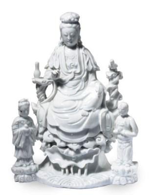 A CHINESE BLANC-DE-CHINE GUANY