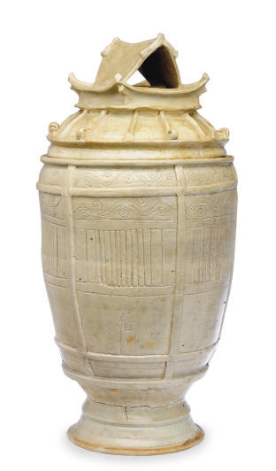 A CHINESE EARTHENWARE FUNERARY