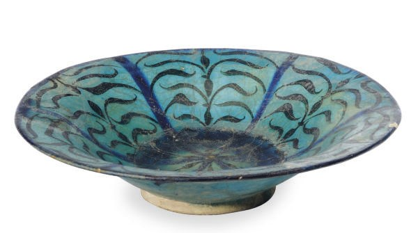 A KASHAN TURQUOISE, BLUE AND B