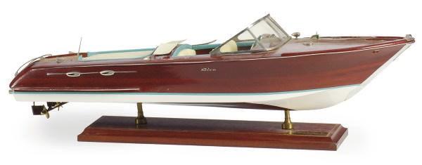 A MAHOGANY MODEL OF 'RIVA AQUA