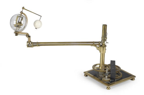 A BRASS AND STEEL ORRERY,