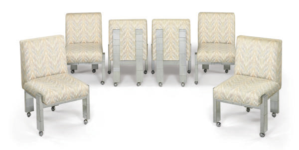 A SET OF SIX CHROMED-METAL AND