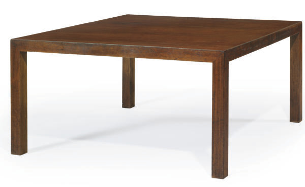 A WALNUT LOW TABLE,
