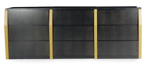 A STAINED AND EBONIZED OAK GRA