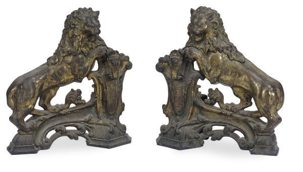 A PAIR OF GILT-BRONZE FIGURAL