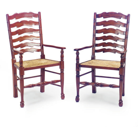 A GROUP OF FOUR MAHOGANY AND R