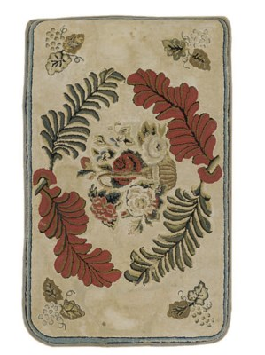 A HOOKED RUG,