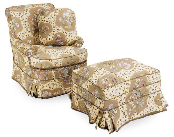 A PAIR OF CHINTZ UPHOLSTERED C