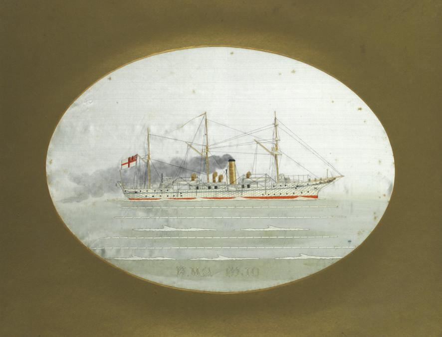 A commemorative embroidered si