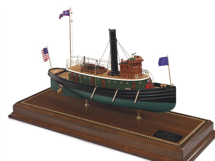 A model of the tugboat Hercule
