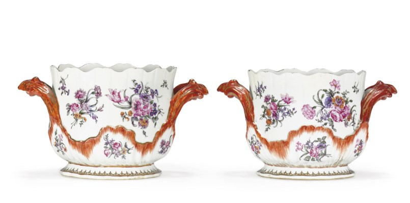 A PAIR OF ROCOCO WINE COOLERS