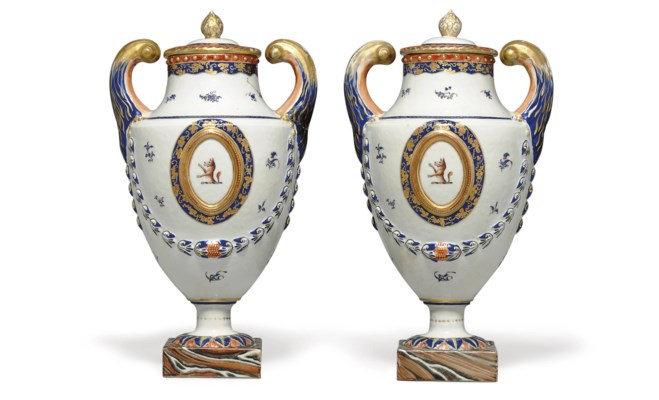 A PAIR OF CRESTED AND INITIALE