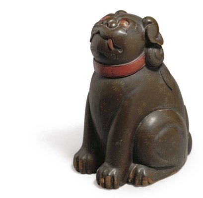 A JAPANESE LACQUER DOG