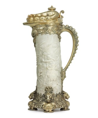 A MONUMENTAL SILVER-GILT AND C