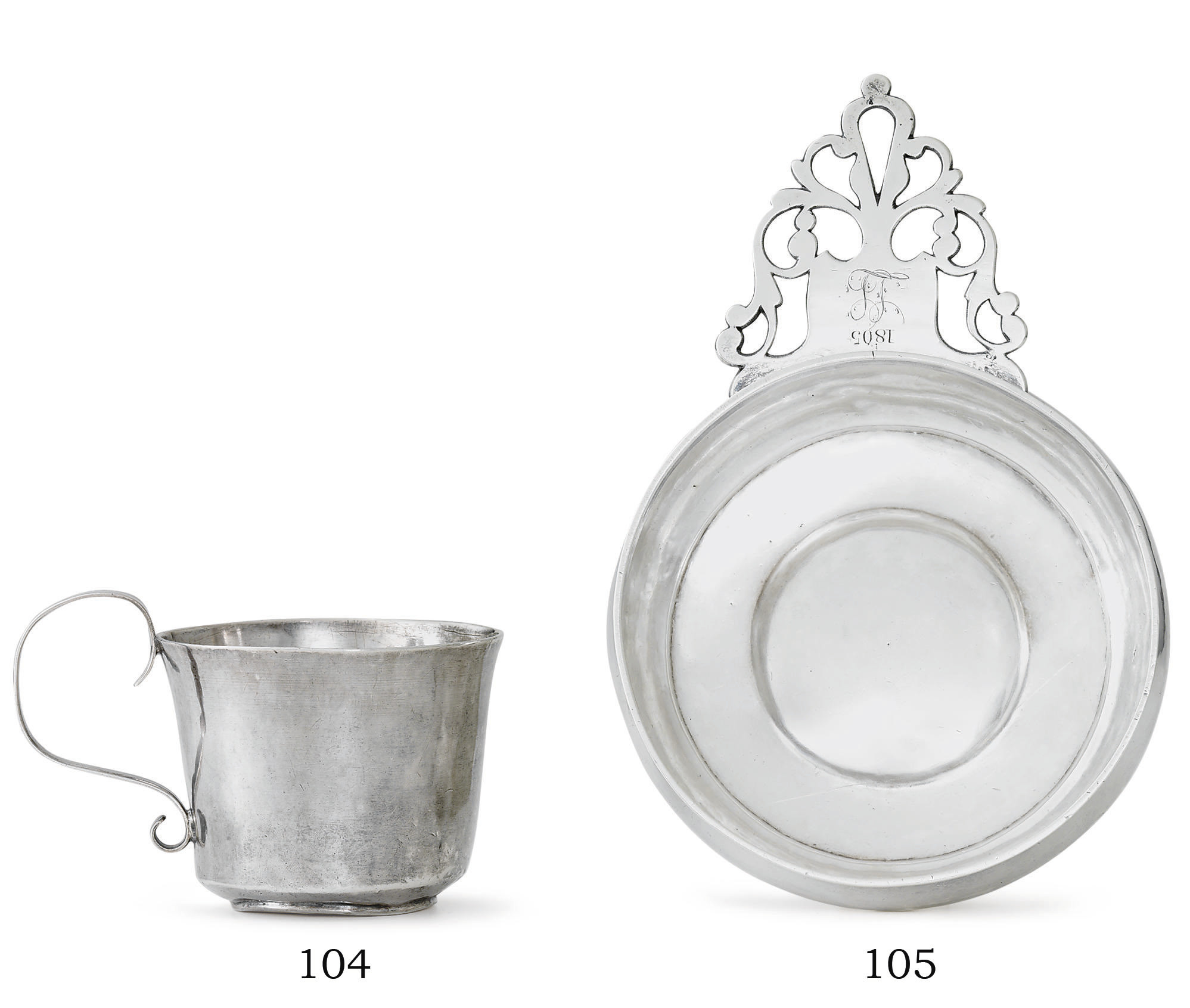AN AMERICAN SILVER HANDLED CUP