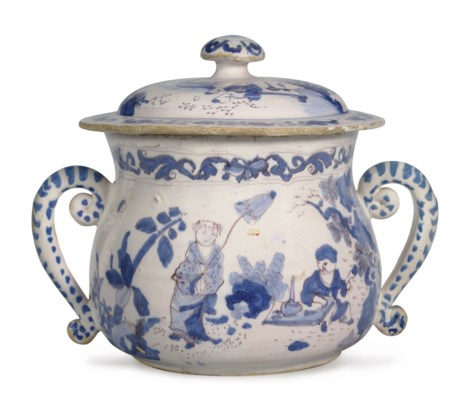 AN ENGLISH DELFT CHINOISERIE T