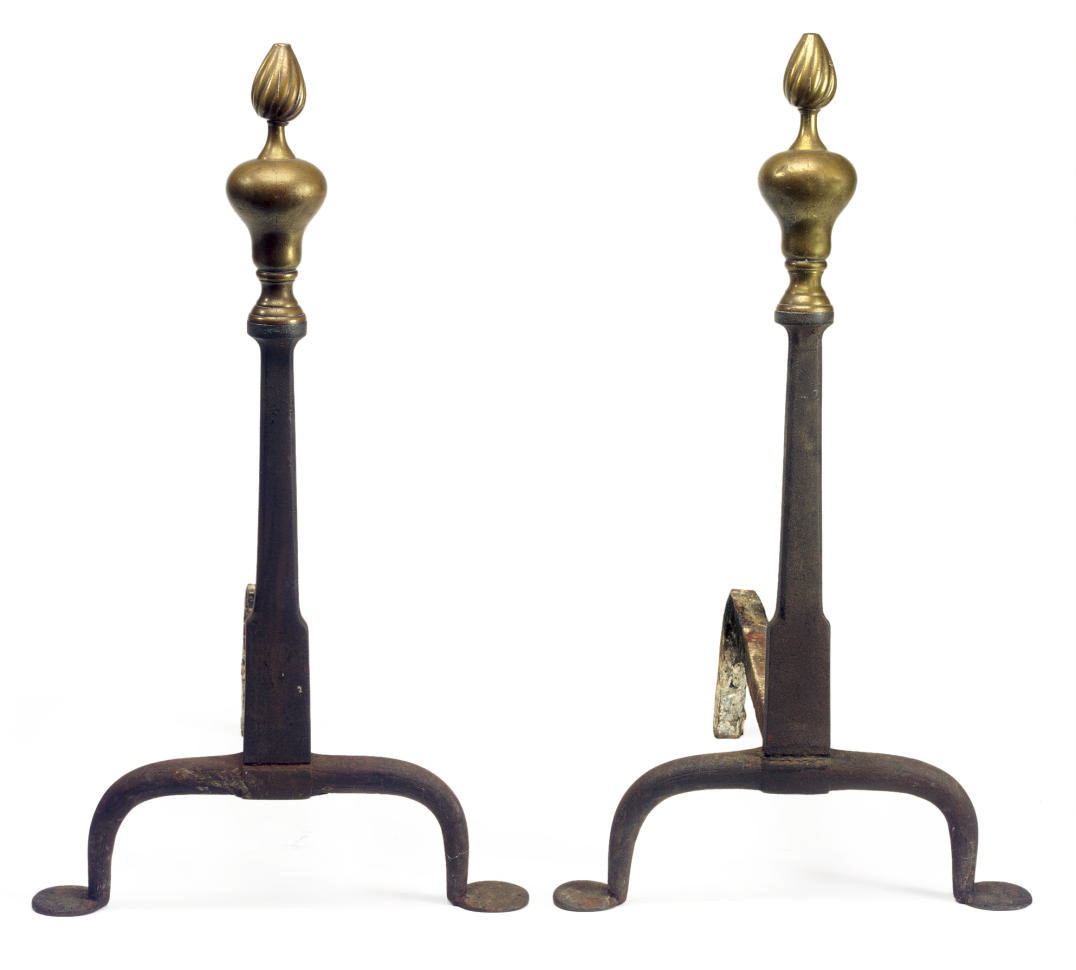 A Pair of Queen Anne Brass and