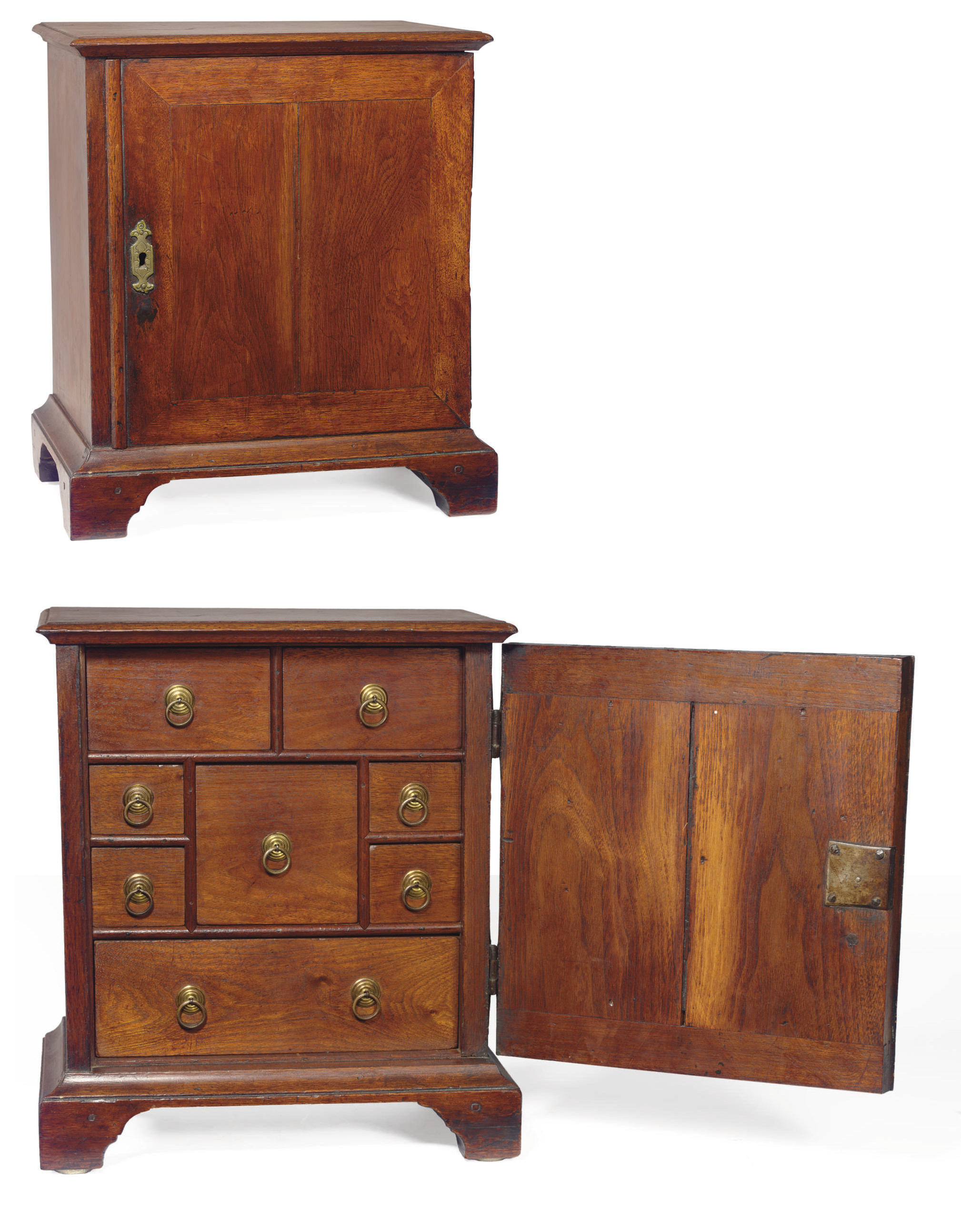A Chippendale Walnut Spice Cab