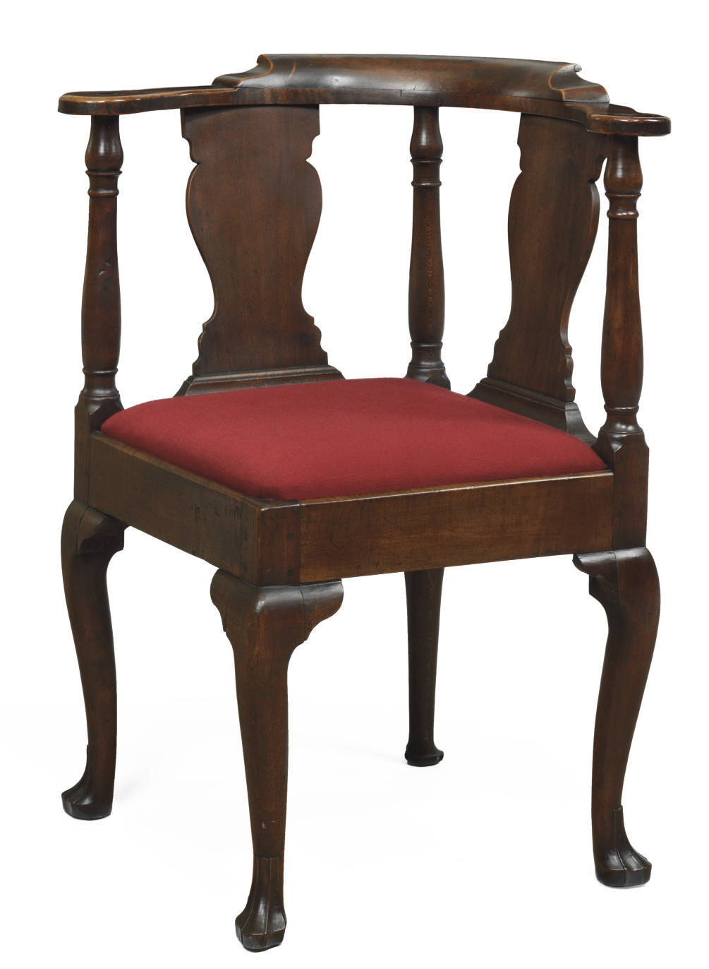 A Queen Anne Maple and Walnut